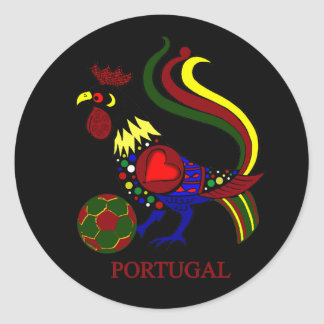"""Barcelos """"galo"""" jogador de futebol de Portugal Pegatina Redonda"""