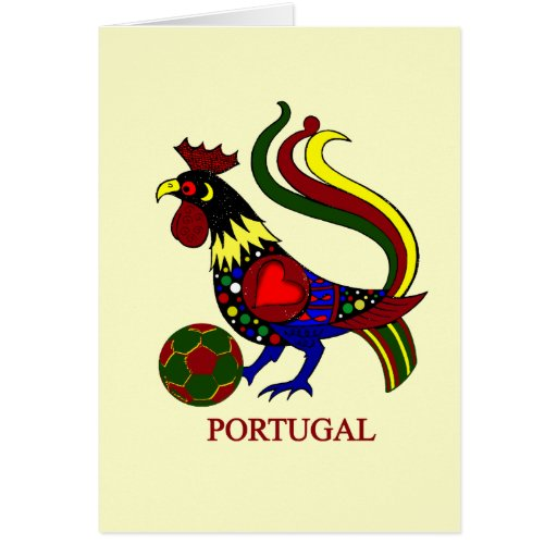 "Barcelos ""galo"" jogador de futebol de Portugal Felicitacion"