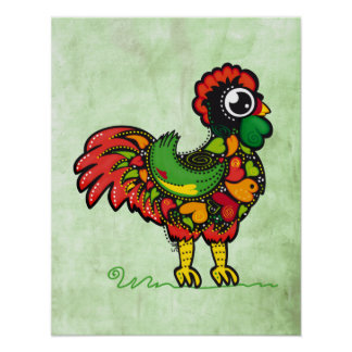 Barcelos Portuguese Rooster print poster