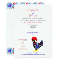 Barcelos Rooster Portuguese National Emblem Invitation