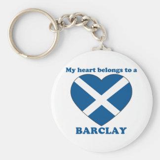 Barclay Basic Round Button Keychain