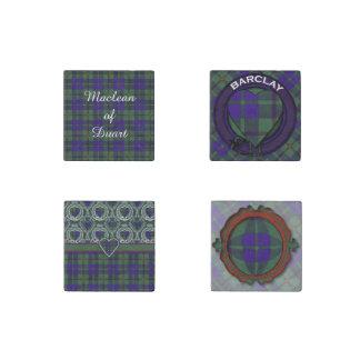 Barclay clan Plaid Scottish tartan Stone Magnet