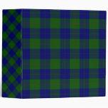Barclay clan tartan blue green plaid 3 ring binder