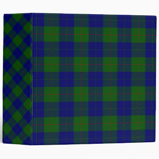 Barclay clan tartan blue green plaid 3 ring binder