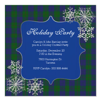 Barclay Clan Tartan Plaid Custom Christmas Party Card