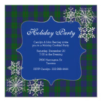 Barclay Clan Tartan Plaid Custom Christmas Party Invitation