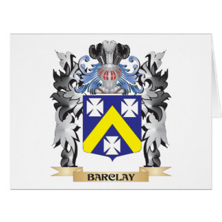 Barclay Coat of Arms - Family Crest Card