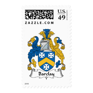 Barclay Family Crest Postage Stamps