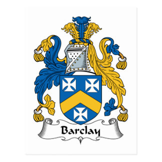 Barclay Family Crest Postcard