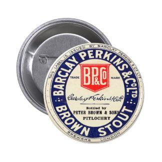 Barclay Perkins Brown Stout Pinback Button