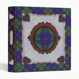 Barclay Scottish clan tartan Vinyl Binder