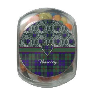 Barcley clan Plaid Scottish kilt tartan Glass Jars