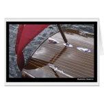 Barco antiguo PhotoCard Tarjeta De Felicitación