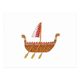Barco antiguo postal