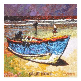 Barco azul fotografía