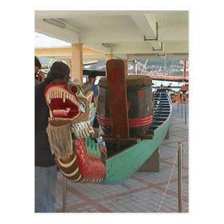Barco chino del dragón postales