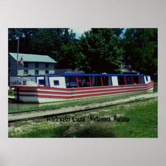 Barco de canal de Whitewater Póster