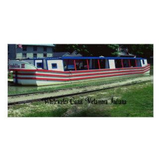 Barco de canal de Whitewater Tarjeta Fotografica Personalizada