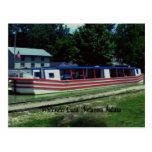 Barco de canal de Whitewater Tarjeta Postal