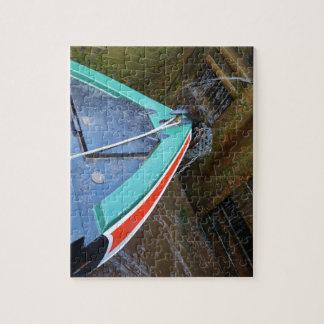 Barco de canal en cerradura puzzle con fotos