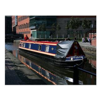 Barco de canal tarjeta postal