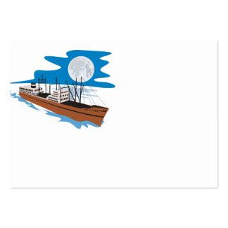 Barco de carga del buque de pasajeros retro tarjetas de visita grandes