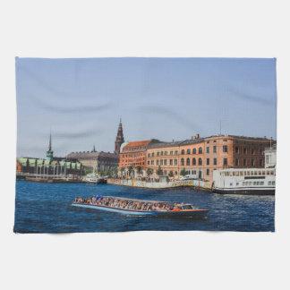 Barco de Copenhague, Dinamarca Toalla De Cocina