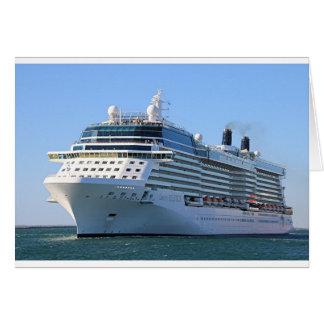 Barco de cruceros 8 tarjeta de felicitación