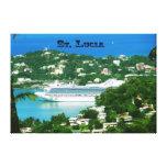 Barco de cruceros atracado en St Lucia Impresión De Lienzo