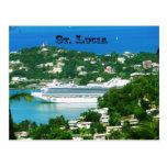 Barco de cruceros atracado en St Lucia Postal