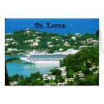Barco de cruceros atracado en St Lucia Felicitaciones