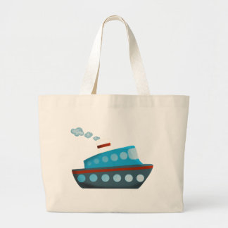 Barco de cruceros azul blanco rojo bolsa