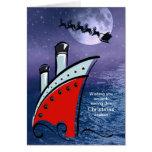 Barco de cruceros - barco en el mar + Vuelo de San Tarjeton