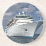 Barco de cruceros blanco grande posavasos manualidades