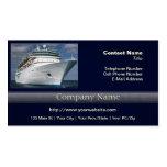 Barco de cruceros blanco grande plantilla de tarjeta personal
