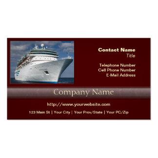 Barco de cruceros blanco grande tarjetas de negocios