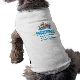 Barco de cruceros chistoso playera sin mangas para perro
