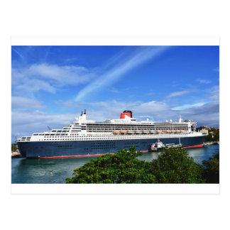 Barco de cruceros de Queen Mary 2 Postal