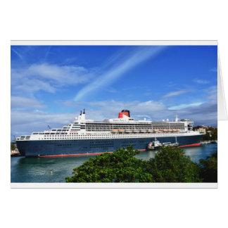 Barco de cruceros de Queen Mary 2 Tarjeta De Felicitación