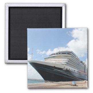 Barco de cruceros del ms Nieuw Amsterdam en Aruba Imán Cuadrado