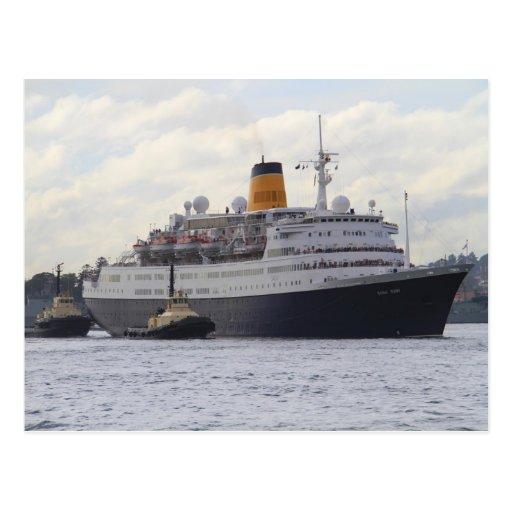 Barco de cruceros del rubí de la saga postal