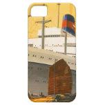 Barco de cruceros del vintage al Oriente con los b iPhone 5 Case-Mate Cobertura