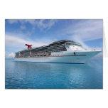 Barco de cruceros en aguas del Caribe Tarjeton