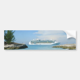 Barco de cruceros en la pegatina para el parachoqu pegatina de parachoque