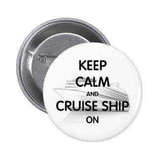 Barco de cruceros encendido pin redondo de 2 pulgadas