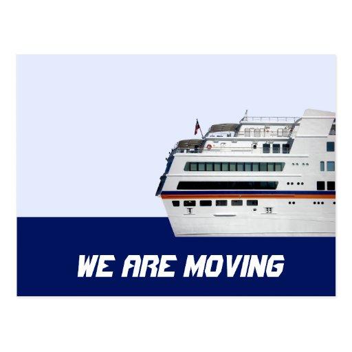 Barco de cruceros estamos moviendo la postal de la