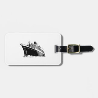 Barco de cruceros etiquetas para maletas