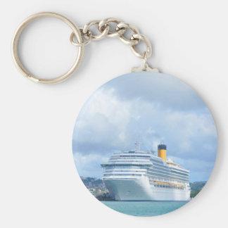 Barco de cruceros llavero redondo tipo pin