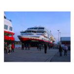 Barco de cruceros noruego postal