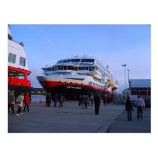 Barco de cruceros noruego postales